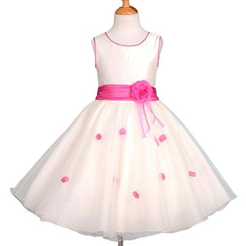 Lito Angels Girls Flower Girl Dresses Wedding Pageant Occasion Dress Sequined Tulle