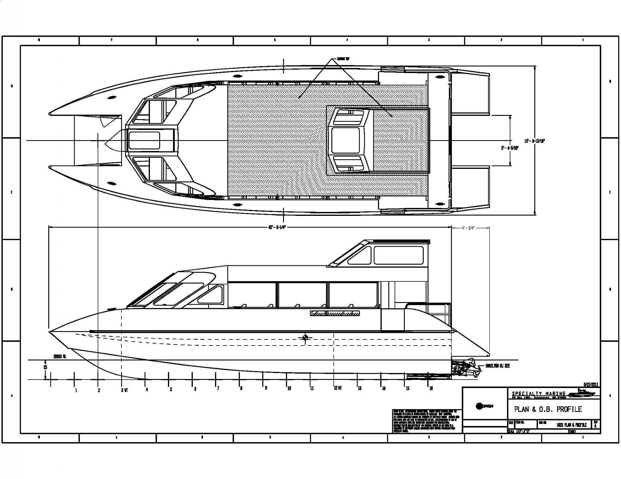 Resultado de imagen de Free Boat Blueprints | Catamaran | Pinterest ...