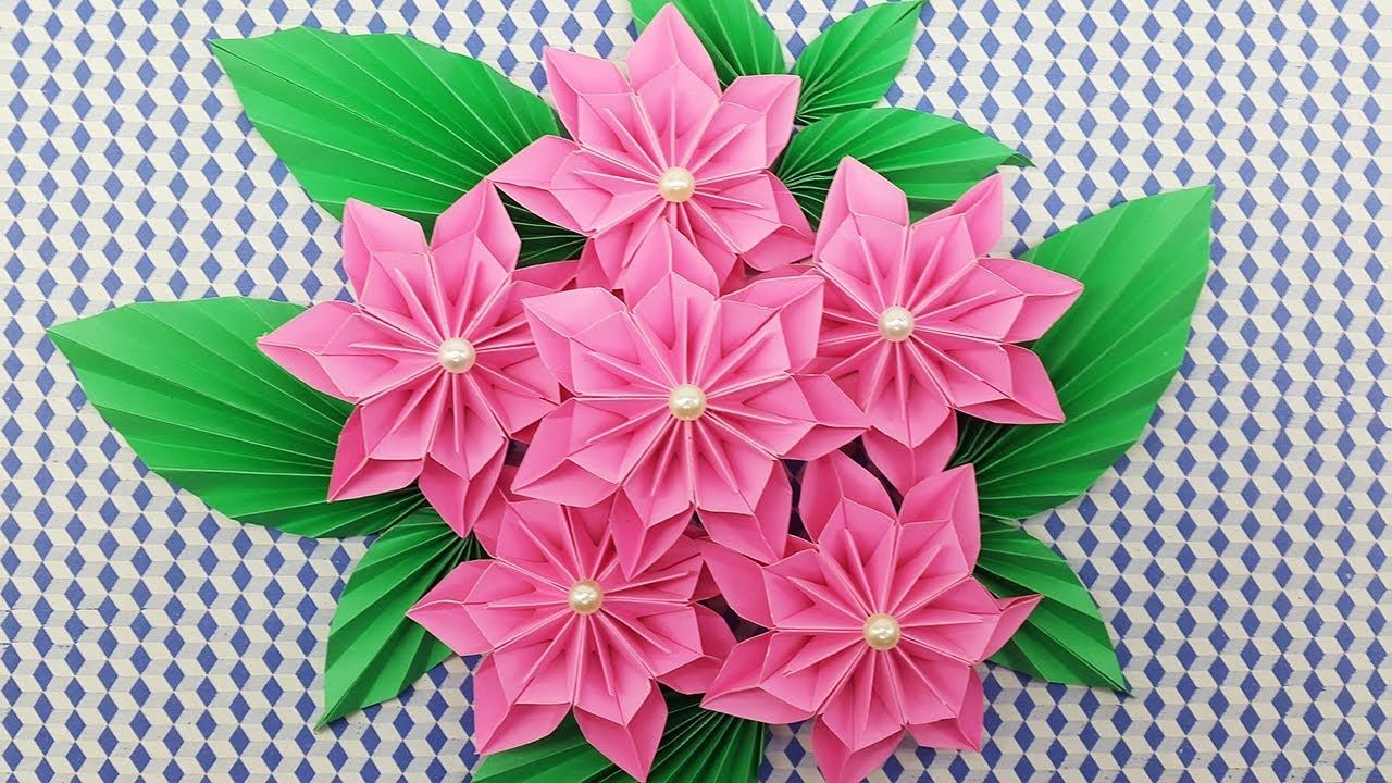 Diy Paper Flowers Bouquet How To Make A Paper Flower Easy For