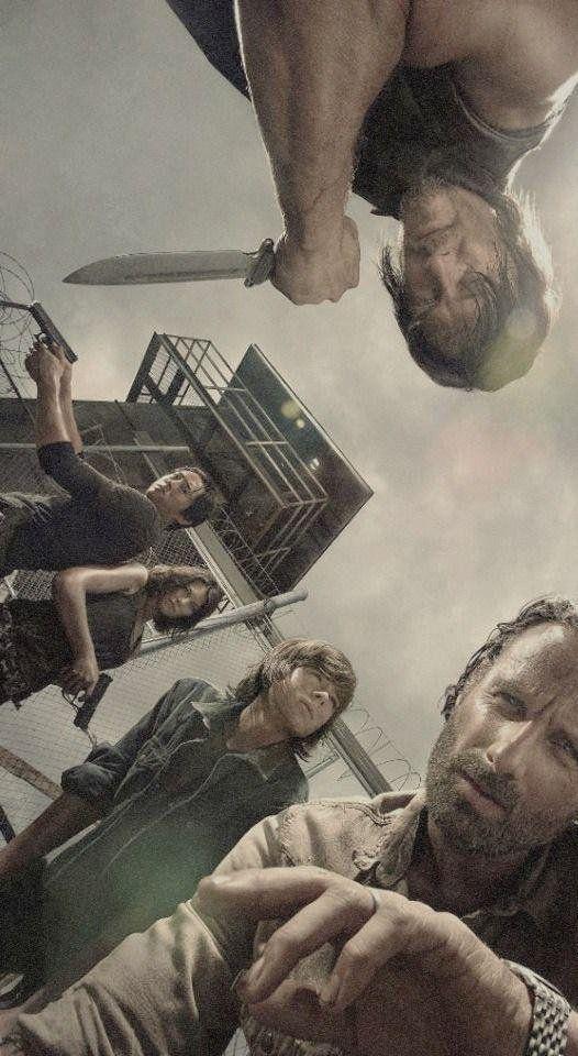 Os protagonistas de The Walking Dead reunidos.