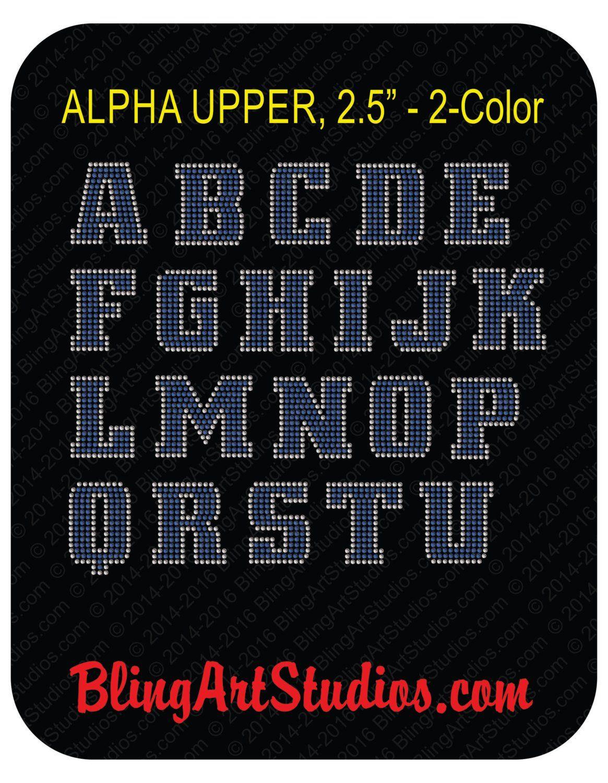 9ac1d4e21 Rhinestone Iron On Letters, 2.5