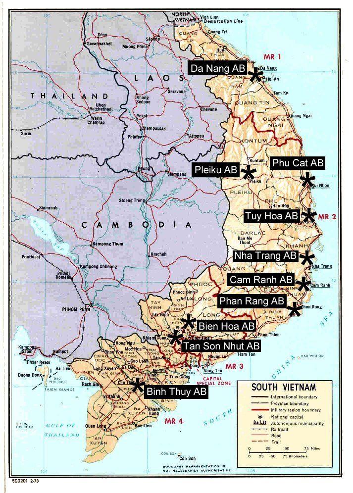 File:Usaf-vietnam-map.jpg | Vietnam war, Vietnam vets, Vietnam