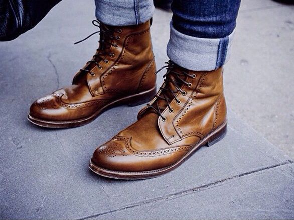 Zapatos marrones de otoño para hombre qRi8fjaJal