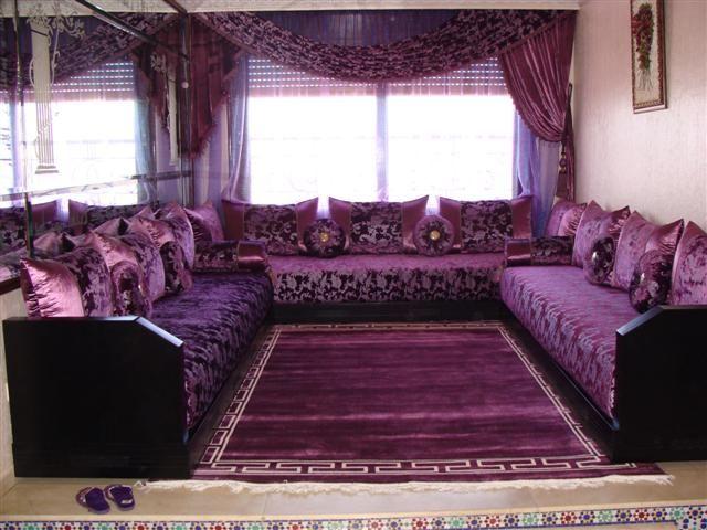 دهانات وديكورات منزليه باللون الموف 2014 اروع الديكورات باللون البنفسجي Moroccan Home Decor Moroccan Living Room Home Room Design