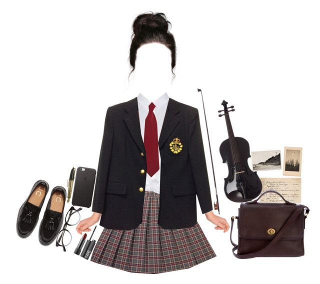 """Boarding School"" by destiniet ❤ liked on Polyvore featuring Peridot London, Ralph Lauren, French Toast, Chronicle Books, Coach, NARS Cosmetics, school, Girls, music and BoardingSchool"