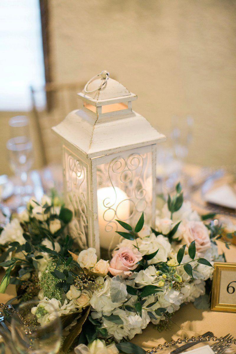 Elegant Blush & Gold Illinois Wedding Lantern
