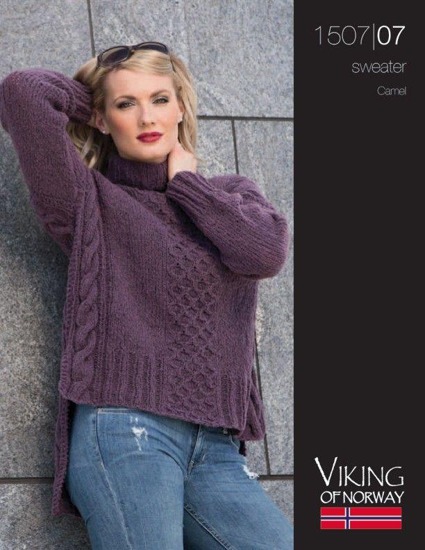 Camel – Sweater – 1507-07 | Knitting Fever Yarns | knitting stitches ...