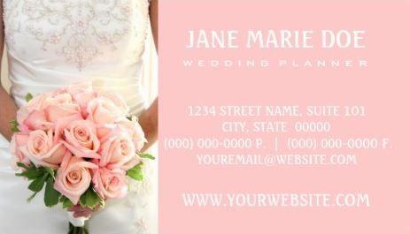 Arredamento Ufficio Wedding Planner : Soft pink bridal roses feminine wedding planner business cards