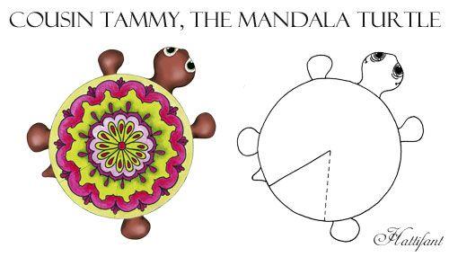 Hattifant Mandala Turtle Family colour color as a kidscraft Tammy