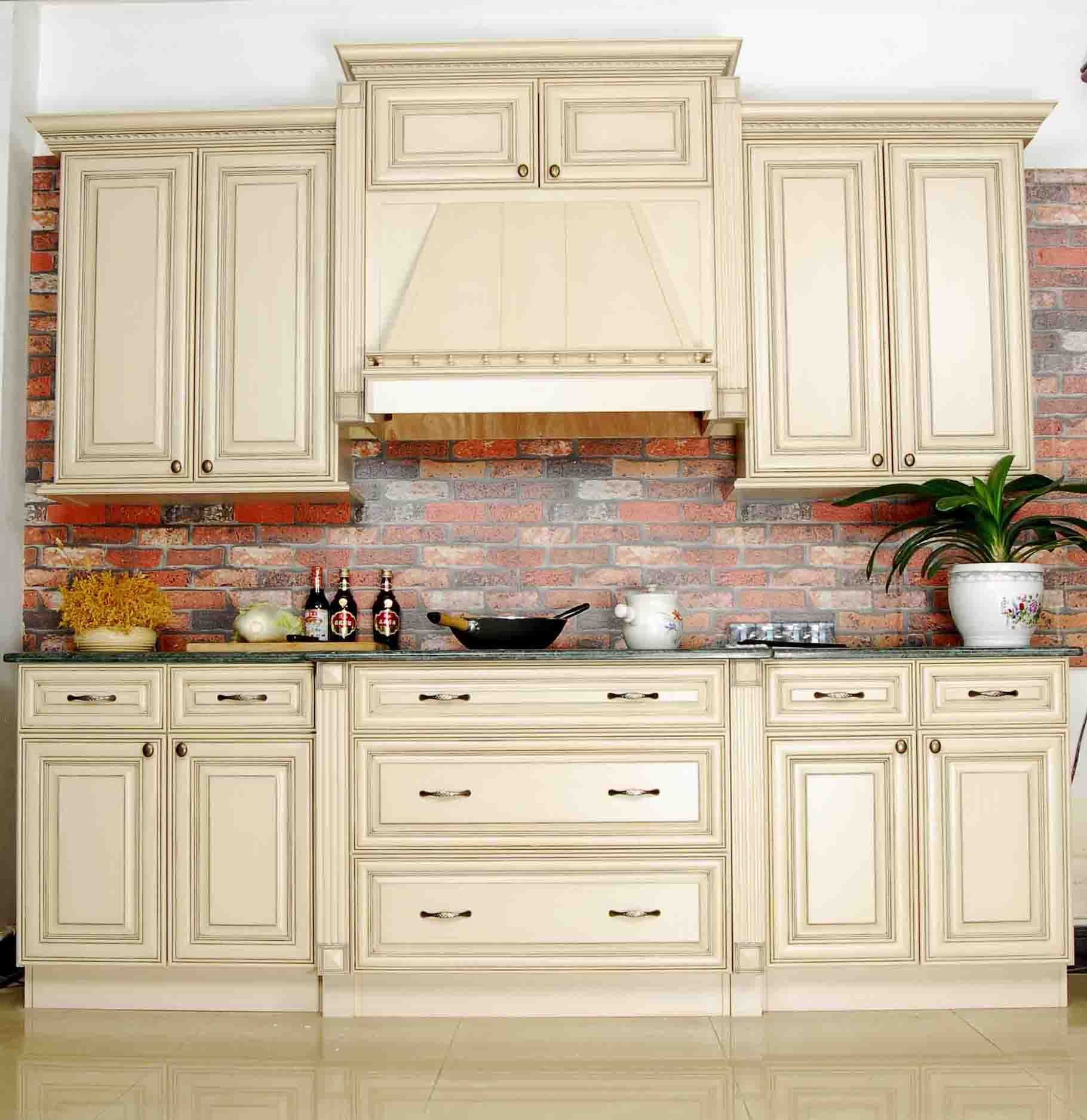 Affordable French Provincial Solid Kitchen Cabinets Ideas With Some Drawers Using Center