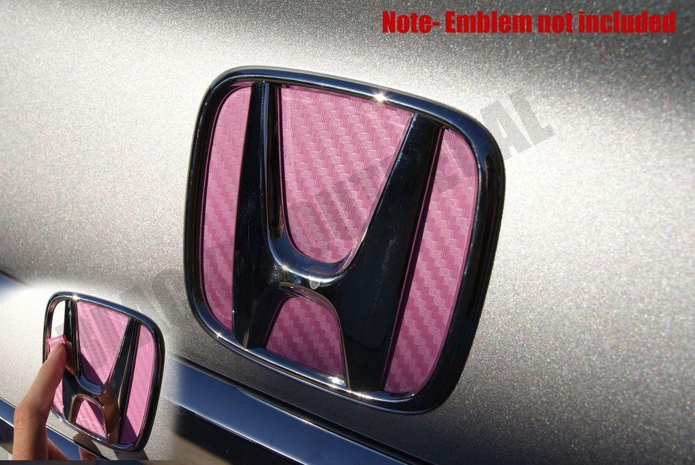 06 2011 Honda Civic Pink Carbon Fiber Rear Trunk Emblem Decal Vinyl Sticker Honda Civic Honda 2011 Honda Civic