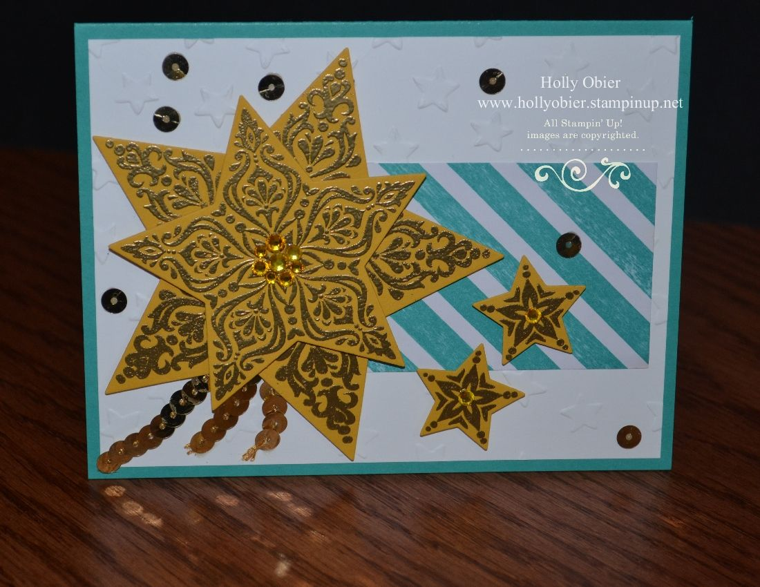 stampin' up bright  beautiful shooting star card with