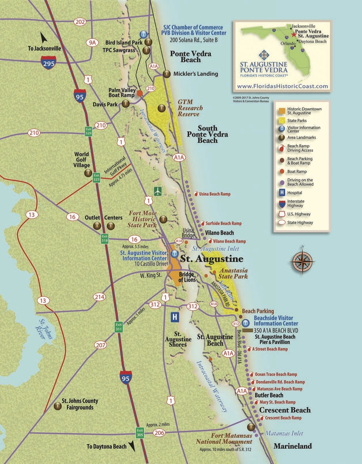 View St. Augustine maps to familiarize yourself with St. Augustine ...