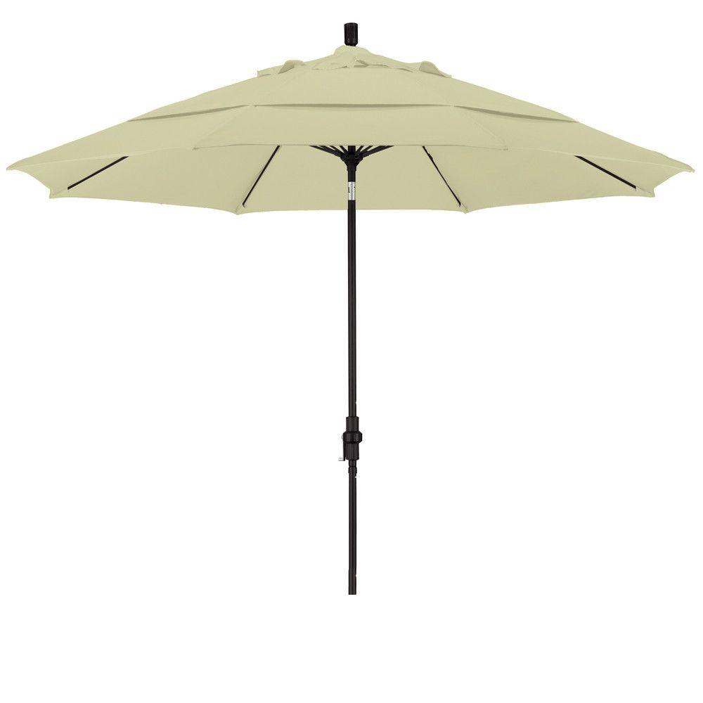 Eclipse Collection 11' Fiberglass Market Umbrella Collar Tilt DV Matted Black/Sunbrella/Canvas