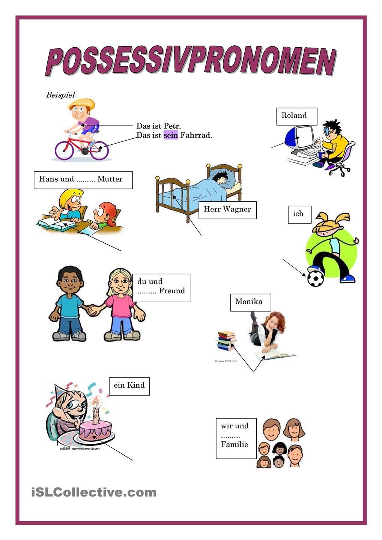 Possessivpronomen | Deutsch, Grammatik und Deutsch lernen