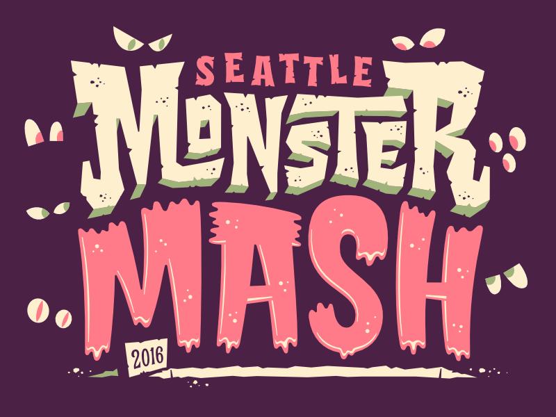Seattle Halloween 2020 Seattle Monster Mash 1/31 | Halloween logo, Halloween typography