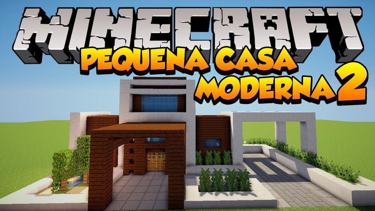 Minecraft construindo uma pequena casa moderna 2 for Minecraft moderno