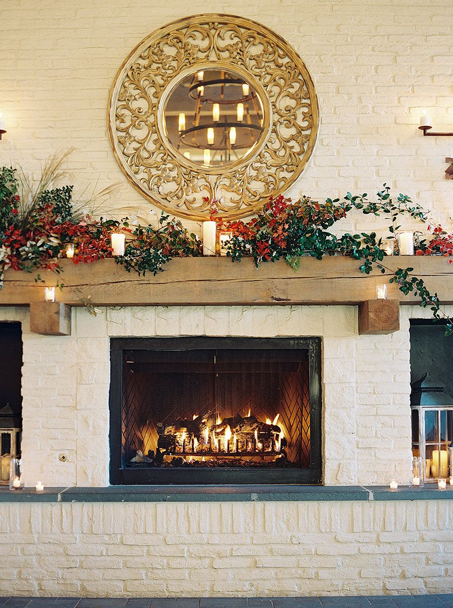 Cheers to Love Autumn Fireplace Wedding Filled With