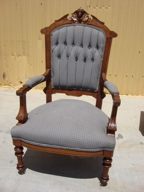American Victorian Antique Furniture Antique Victorian Parlor Chair - American Victorian Antique Furniture Antique Victorian Parlor