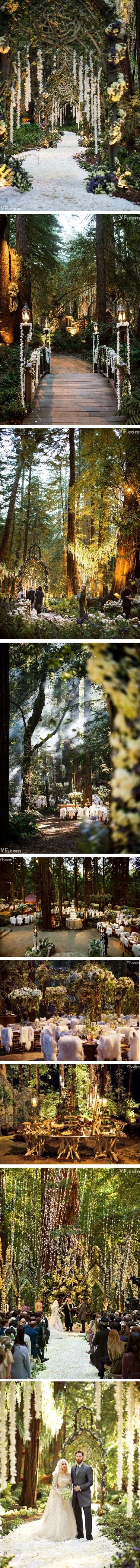 elvish wedding from heaven. Damn good things to look at. Nothing but the forest though is what I would use. I am just shocked there are people who can afford to have weddings like this.