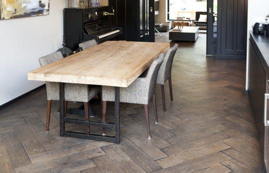 Vloerverwarming houten vloer mooi en behagelijk warm. hout en