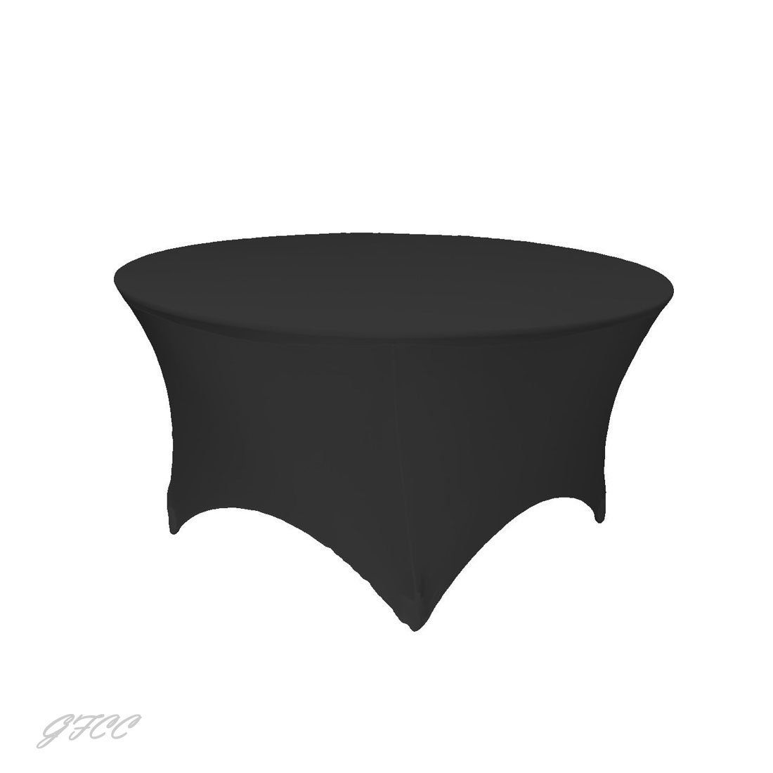 Amazon Com Gfcc 3ft Black Round Stretch Tablecloth Home Kitchen Table Cloth Table Covers Tablecloths For Sale