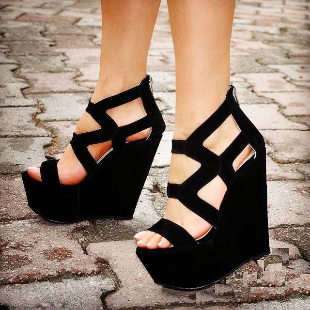 c390435125ee7 Yazlık modern dolgu topuk ayakkabı modelleri   shoes en 2019   Shoes ...