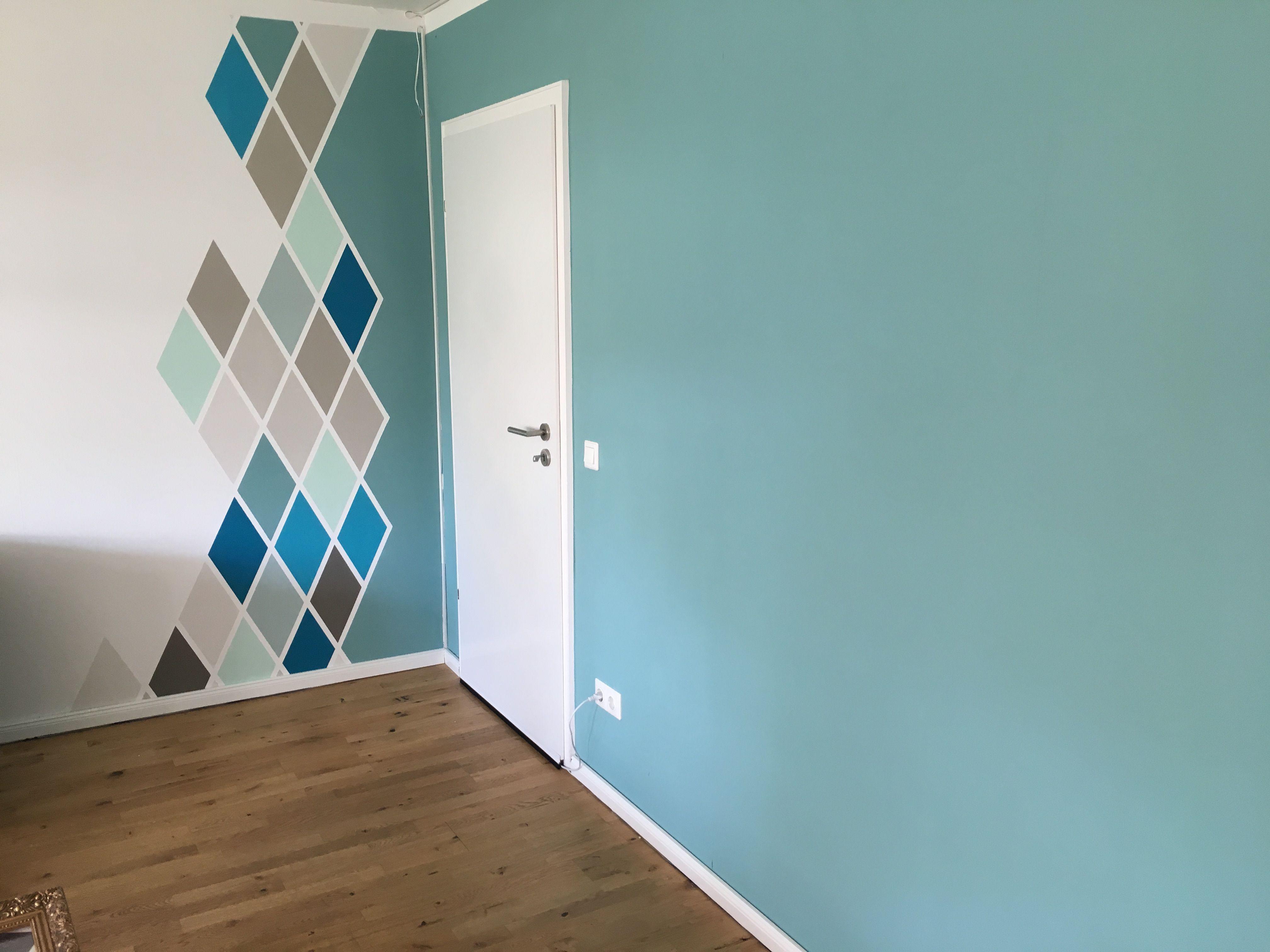 karomuster im wohnzimmer mit schöner wohnen Farbe #schönerwohnen