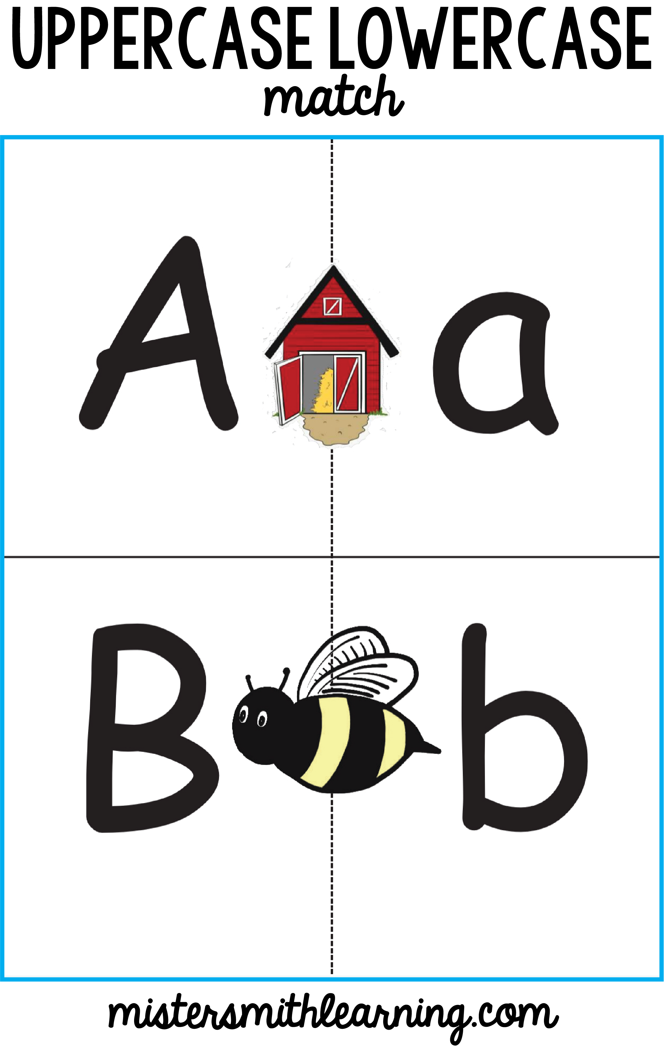 Upper Case Lowercase Match With Letter Recognition