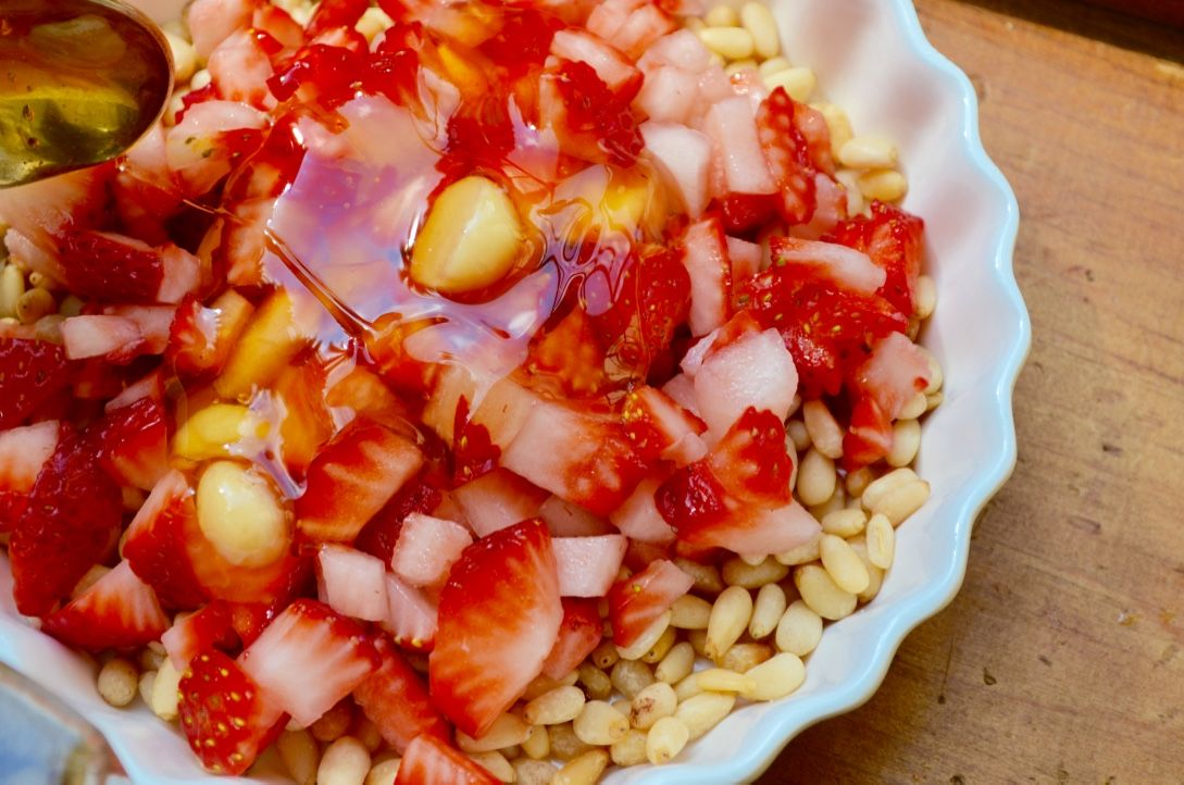 Pine nut honey and strawberry dish recipe halal recipes food my halal kitchen is a halal food and cooking blog featuring culinary tips and healthy halal forumfinder Image collections