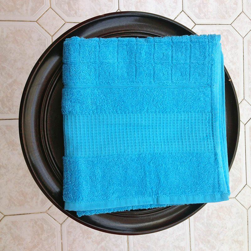 Checkered Turquoise Towel