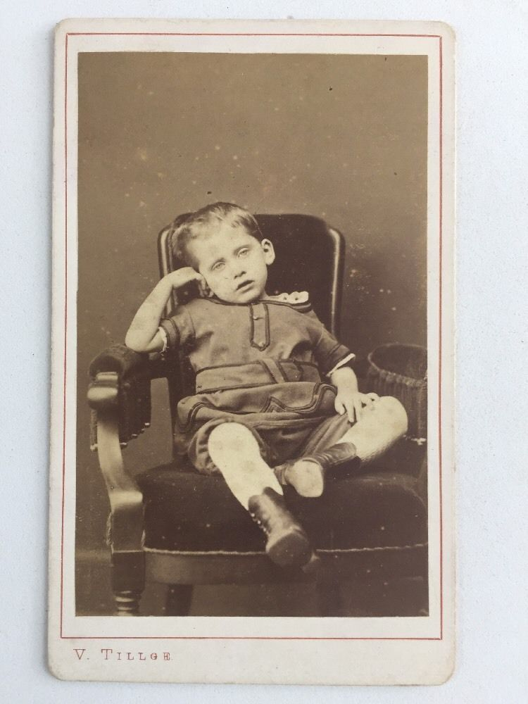 Victorian Carte De Visite CDV Photo Child V Tillge Kjobenhavn
