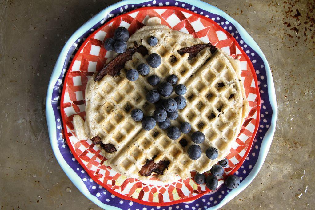 Bacon waffles gluten free dairy free egg free dairy