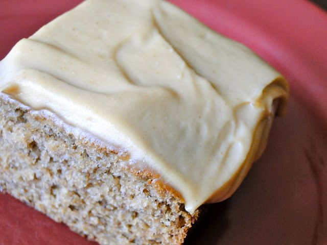 Banana Snack Cake w/ Peanut Butter Icing #vegan
