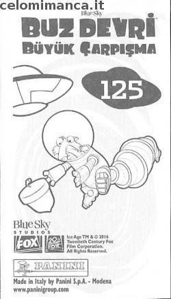 L'era glaciale - In rotta di collisione: Retro Figurina n. 125 -