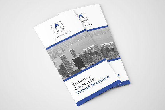 clean trifold brochure 05 by zaas on graphicsauthor templates