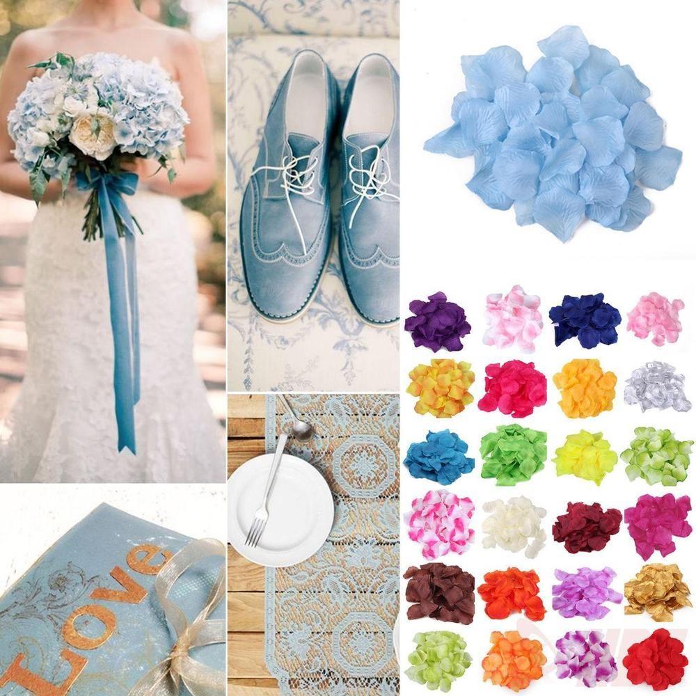 Lots 1000pcs Colorful Artificial Flower Rose Petals Wedding Party Decorations | eBay