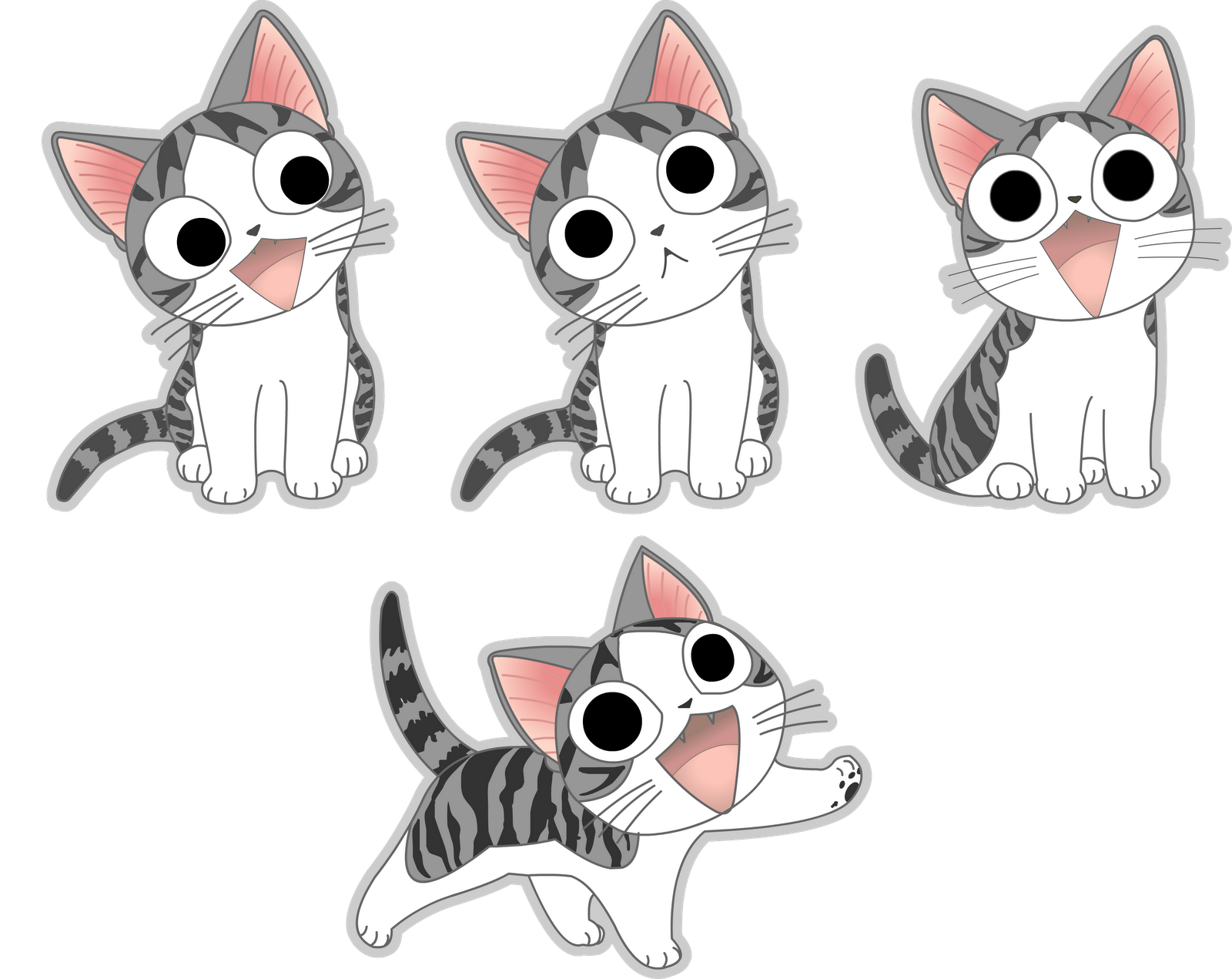 Chi S Sweet Home By Erick Draves Png 1600 1271 Chi S Sweet Home Anime Cat Silver Cat