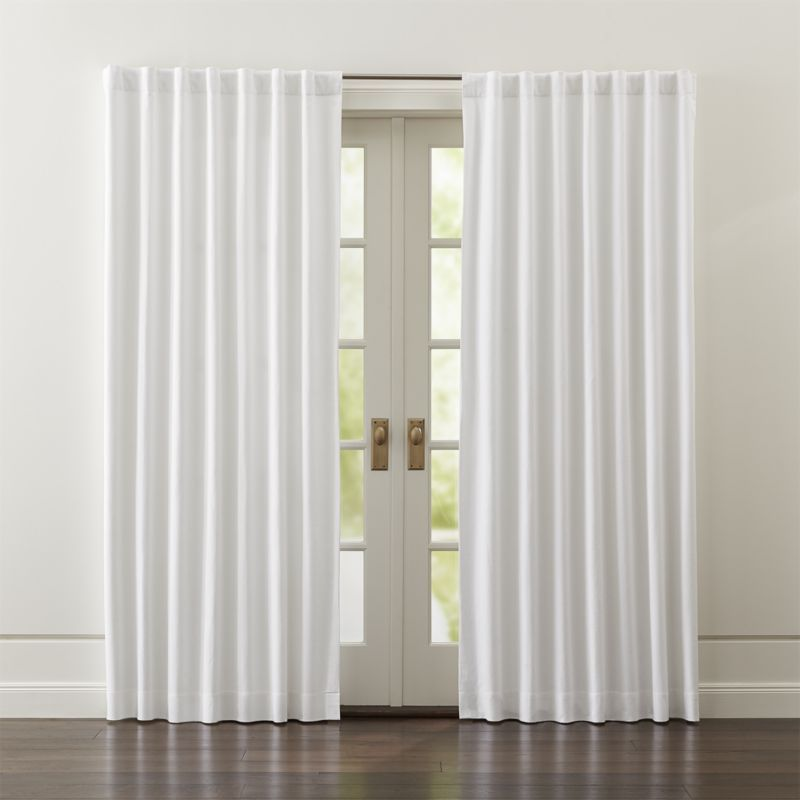 Wallace White 52 X84 Blackout Curtain Panel