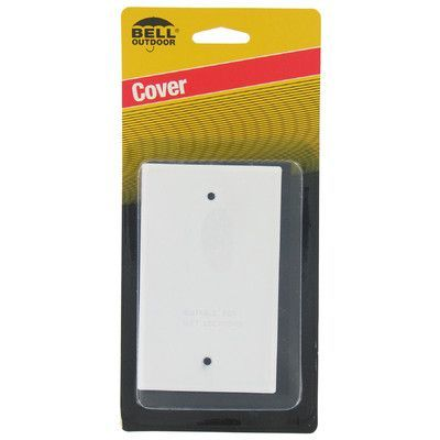 HubbellRaco Single Gang Blank Switch Plate Cover Color: White