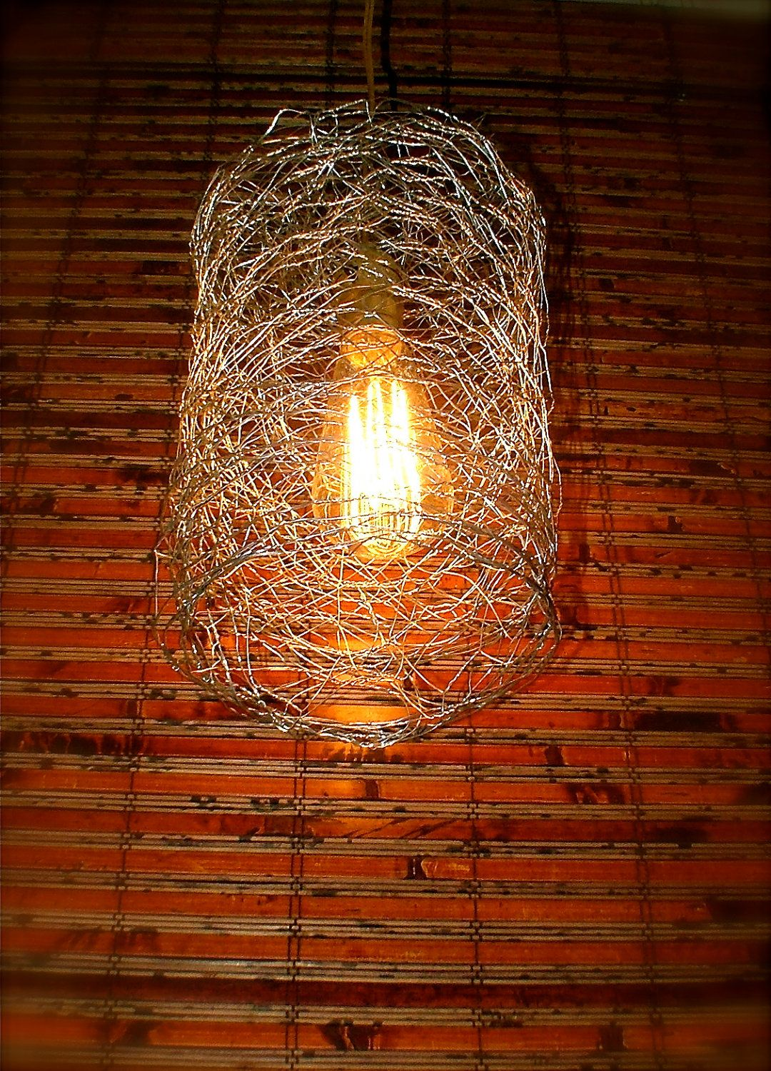 repurposed chicken wire swag light on sale by
