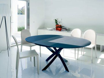 Barone Bontempi Tables Round Dining Table Modern Round Dining