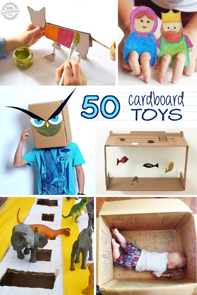 50 Things You Can Do With A Card Board Box Kinder Aktivitaten Kinderprojekte Kinder Basteln Ideen