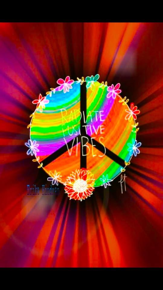 ☮ American Hippie ☮ Peace Sign .. Positive Vibes