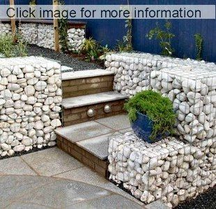 Low Cost gabion steps Cheaper than block stone gabion walls are easy to  build