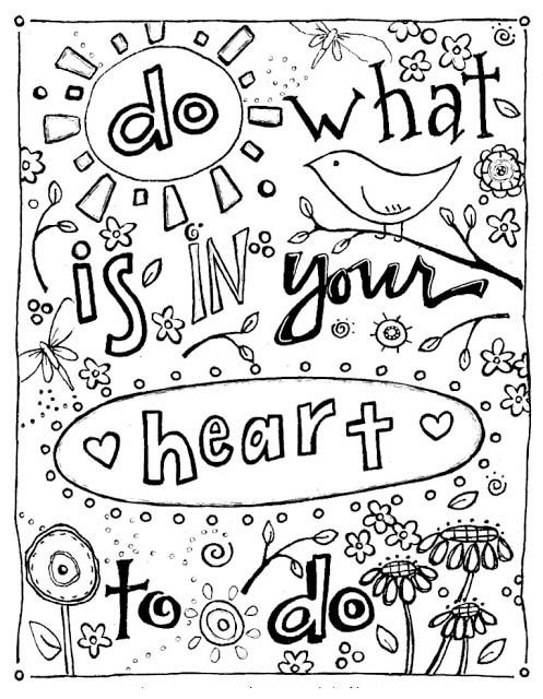 Inspirational Quotes Coloring Pages Coloring Pages Pinterest - copy free coloring pages showing kindness