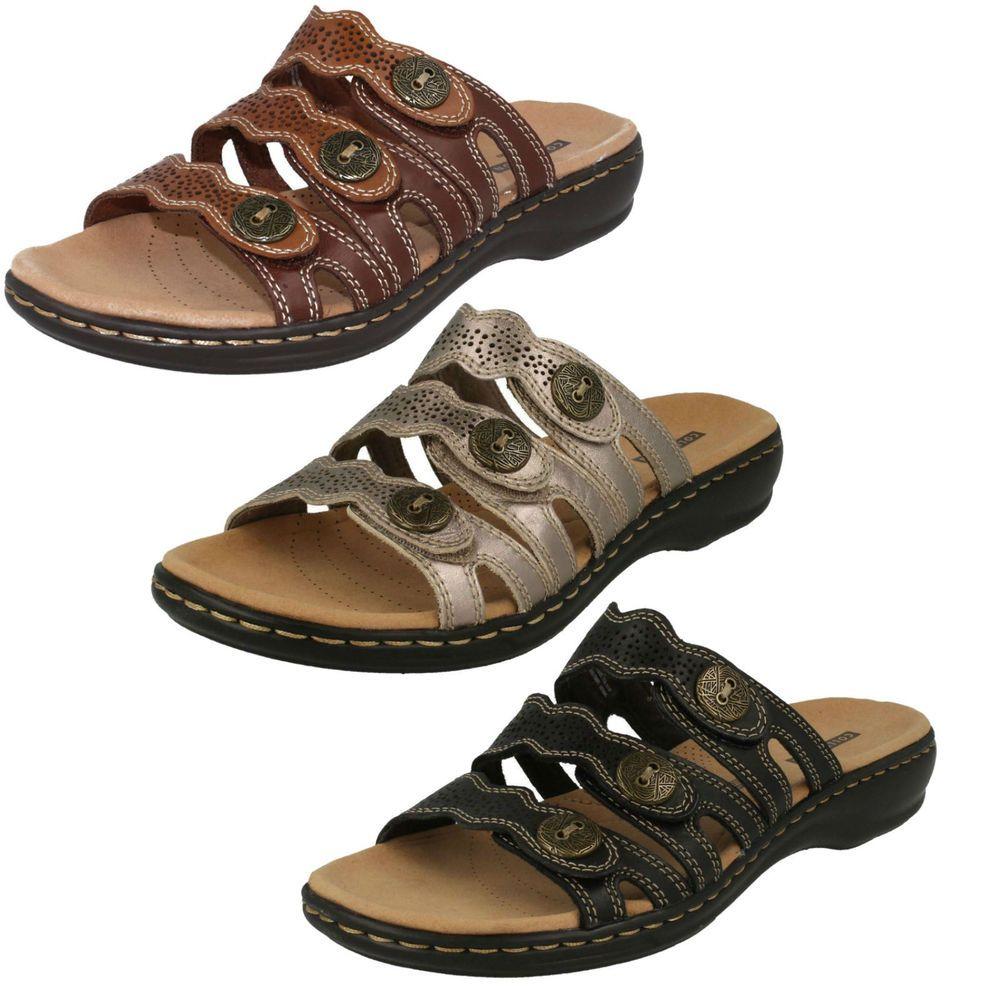 e735b806677 Product ID LEISA GRACE. LADIES CLARKS SANDALS. SLIP ON MULE. Look MULE  SANDALS. TEXTILE LINING. ROUND TOE. OPEN TOE. Heel Height Low Heel (0.5-1.5  in.).