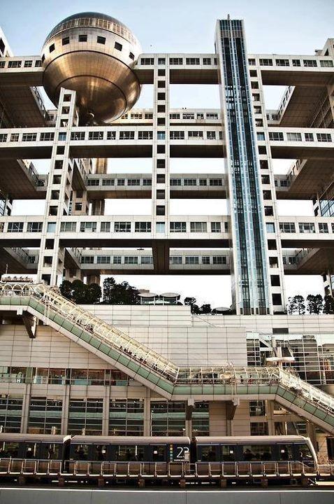 Fuji tv headquarters tokyo architektur pinte - Architektur tokyo ...