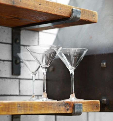 Open Kitchen Shelves With Brackets: Raw Steel Shelf Bracket By Designs2Create On Etsy, $10.00