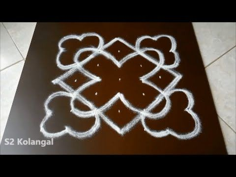 Simple flower kolam muggulu design with dots also best images in rh pinterest